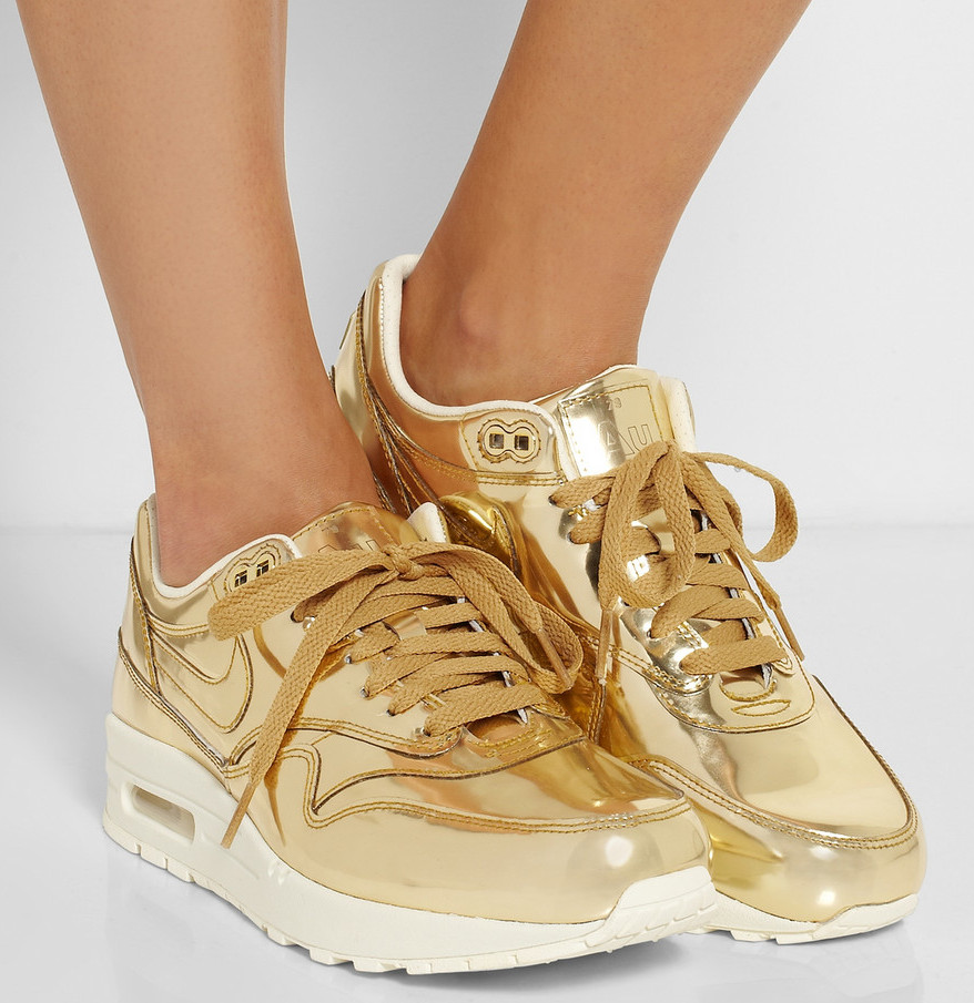 Gold Nikes