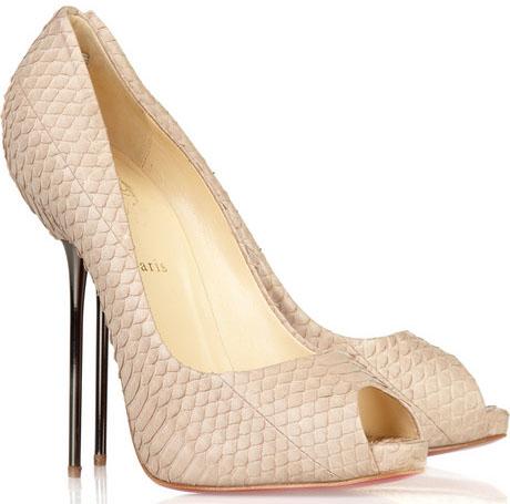 louboutin snake heels