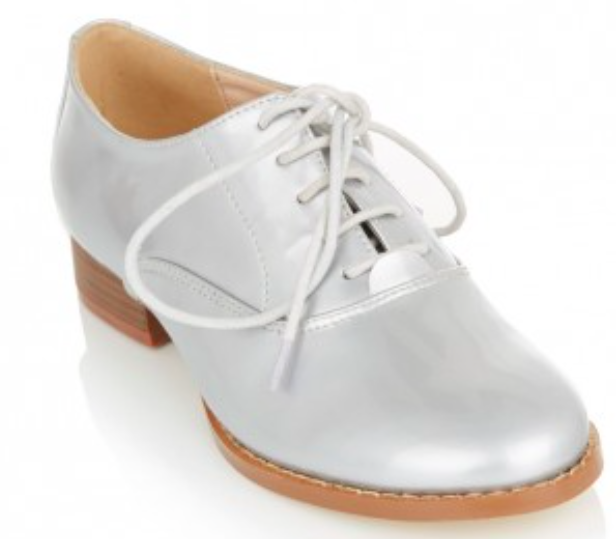 MADISON Patent Brogues Silver