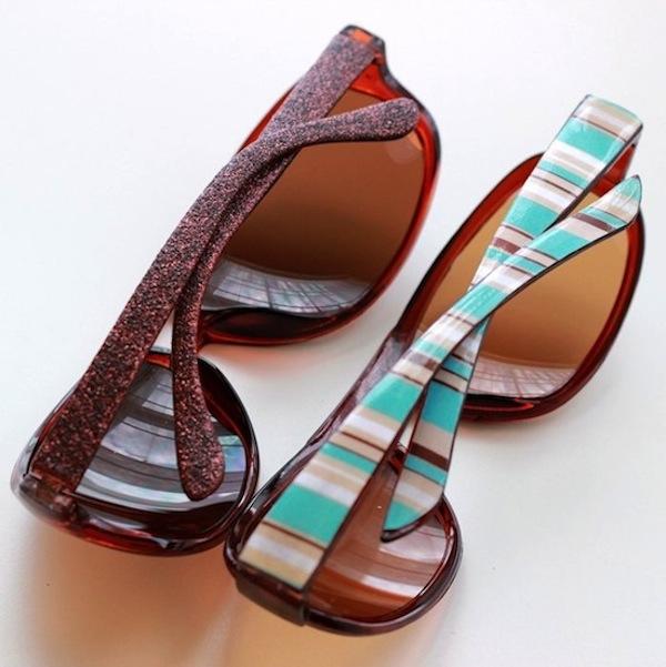 glitter and stripes sunglasses