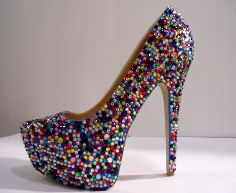 Multi color heels