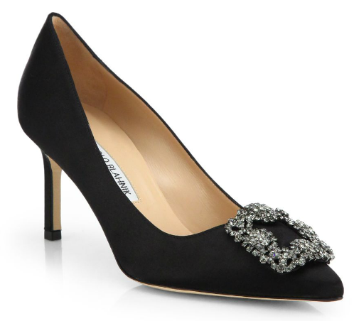 Manolo Blahnik Hangisi 70 Satin Pumps