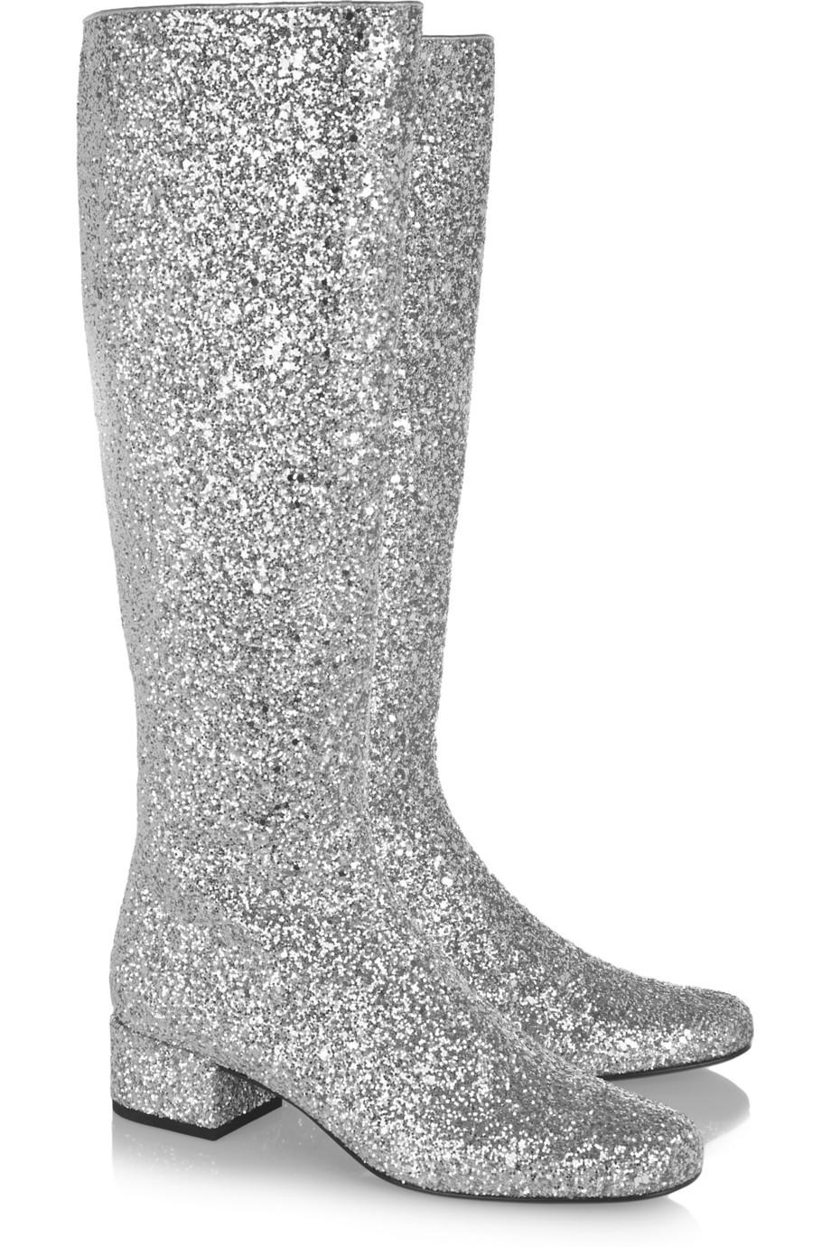 Saint Laurent Glitter Boots