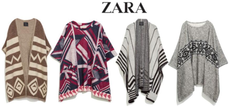 Zara Ponchos