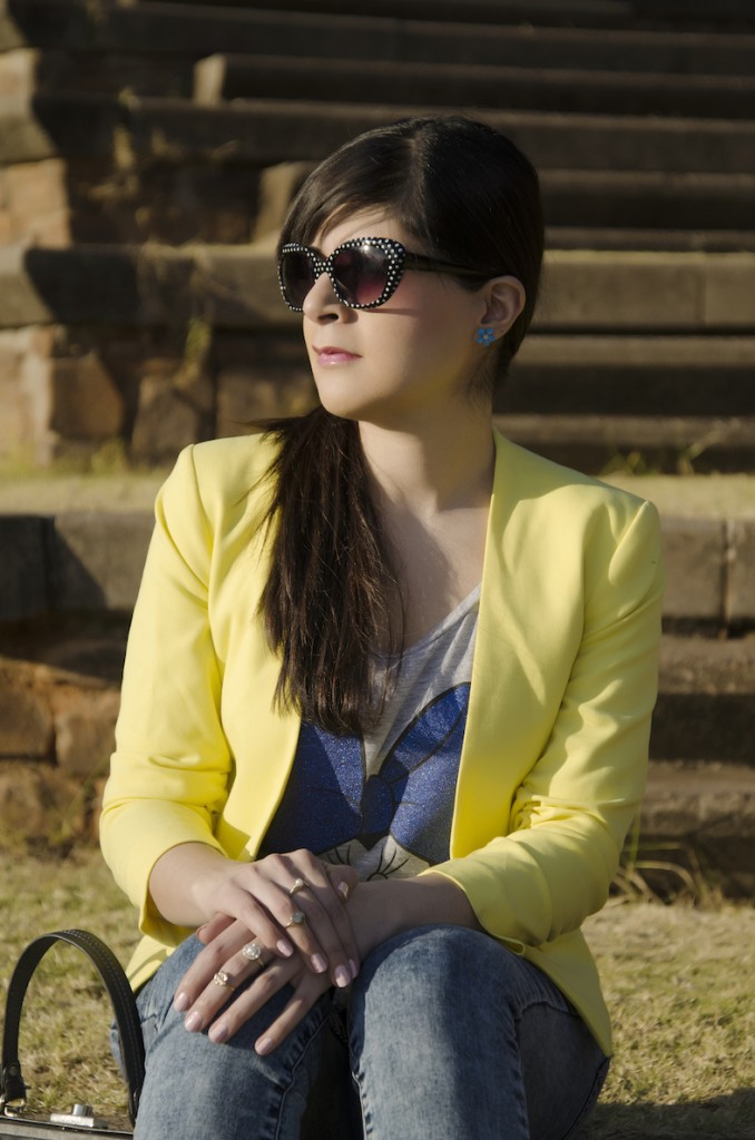 Style Blogger: Yellow Blazer Minnie Mouse T-Shirt