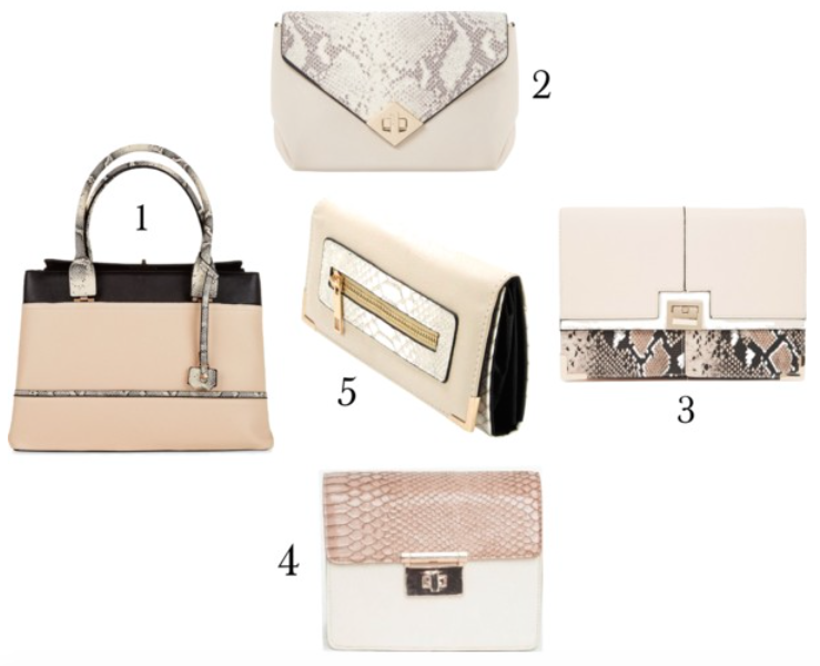 5 affordable neutral snakeskin handbags