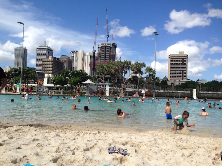Brisbane Southbank beach