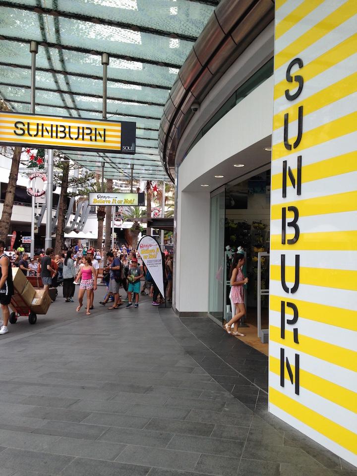 Surfers Paradise Sunburn