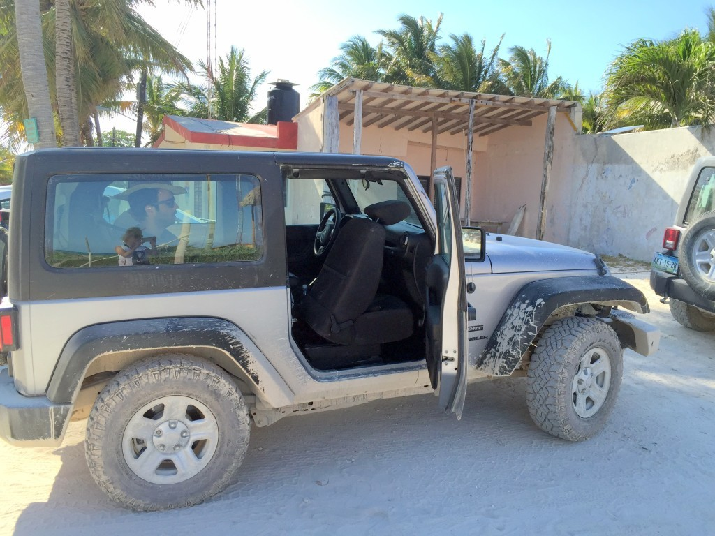 jeep we used for day tour to Punta Allen-Sian Kaan