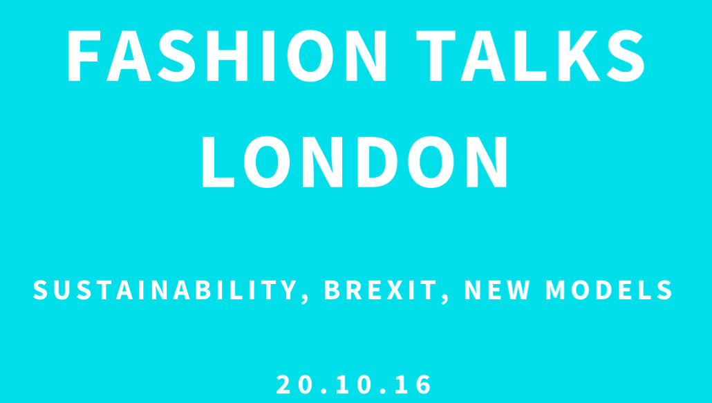Book tickets for Fashion Talks London 2016